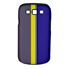 Blue And Yellow Lines Samsung Galaxy S Iii Classic Hardshell Case (pc+silicone) by Valentinaart
