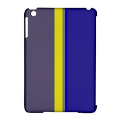 Blue And Yellow Lines Apple Ipad Mini Hardshell Case (compatible With Smart Cover)