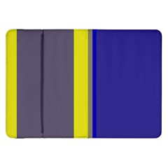 Blue And Yellow Lines Samsung Galaxy Tab 8 9  P7300 Flip Case by Valentinaart