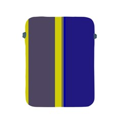 Blue And Yellow Lines Apple Ipad 2/3/4 Protective Soft Cases by Valentinaart