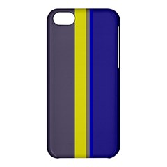Blue And Yellow Lines Apple Iphone 5c Hardshell Case by Valentinaart