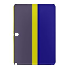 Blue And Yellow Lines Samsung Galaxy Tab Pro 10 1 Hardshell Case by Valentinaart