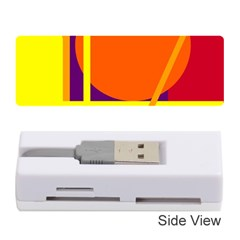 Orange Abstract Design Memory Card Reader (stick)  by Valentinaart