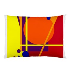 Orange Abstract Design Pillow Case (two Sides) by Valentinaart