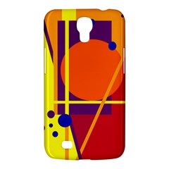 Orange Abstract Design Samsung Galaxy Mega 6 3  I9200 Hardshell Case by Valentinaart