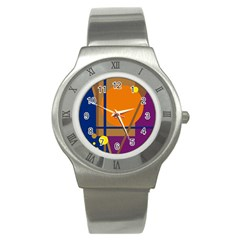 Decorative Abstract Design Stainless Steel Watch by Valentinaart