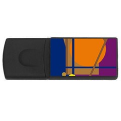 Decorative Abstract Design Usb Flash Drive Rectangular (4 Gb)  by Valentinaart