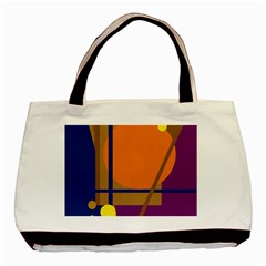 Decorative Abstract Design Basic Tote Bag by Valentinaart