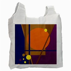 Decorative Abstract Design Recycle Bag (one Side) by Valentinaart