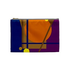 Decorative Abstract Design Cosmetic Bag (medium)  by Valentinaart