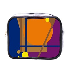 Decorative Abstract Design Mini Toiletries Bags by Valentinaart