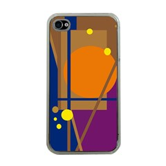 Decorative Abstract Design Apple Iphone 4 Case (clear) by Valentinaart