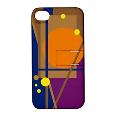 Decorative Abstract Design Apple Iphone 4/4s Hardshell Case With Stand by Valentinaart