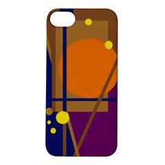 Decorative Abstract Design Apple Iphone 5s/ Se Hardshell Case by Valentinaart