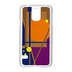 Decorative Abstract Design Samsung Galaxy S5 Case (white) by Valentinaart