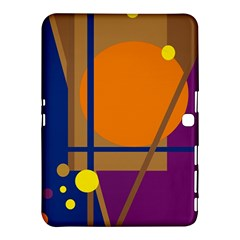 Decorative Abstract Design Samsung Galaxy Tab 4 (10 1 ) Hardshell Case  by Valentinaart