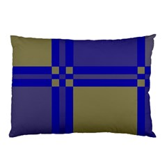 Blue Design Pillow Case (two Sides) by Valentinaart