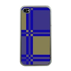 Blue Design Apple Iphone 4 Case (clear) by Valentinaart