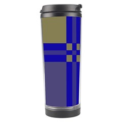 Blue Design Travel Tumbler by Valentinaart
