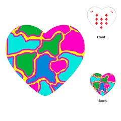 Colorful Abstract Design Playing Cards (heart)  by Valentinaart