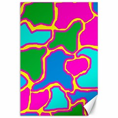 Colorful Abstract Design Canvas 12  X 18   by Valentinaart