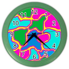 Colorful Abstract Design Color Wall Clocks by Valentinaart
