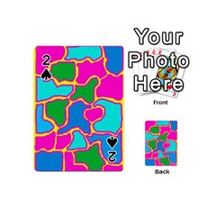 Colorful Abstract Design Playing Cards 54 (mini)  by Valentinaart