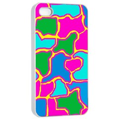 Colorful Abstract Design Apple Iphone 4/4s Seamless Case (white) by Valentinaart