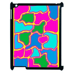 Colorful Abstract Design Apple Ipad 2 Case (black) by Valentinaart