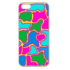 Colorful Abstract Design Apple Seamless Iphone 5 Case (clear) by Valentinaart
