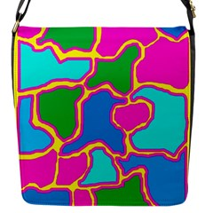 Colorful Abstract Design Flap Messenger Bag (s) by Valentinaart