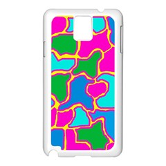 Colorful Abstract Design Samsung Galaxy Note 3 N9005 Case (white) by Valentinaart