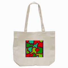 Colorful Abstract Design Tote Bag (cream) by Valentinaart