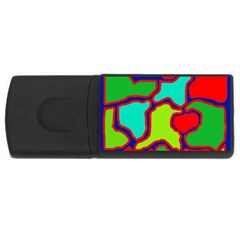 Colorful Abstract Design Usb Flash Drive Rectangular (4 Gb)  by Valentinaart