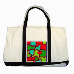 Colorful Abstract Design Two Tone Tote Bag