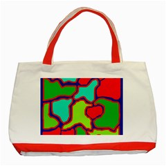 Colorful Abstract Design Classic Tote Bag (red) by Valentinaart