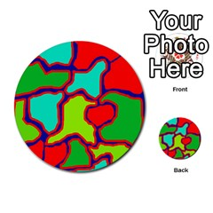 Colorful Abstract Design Multi Purpose Cards (round)  by Valentinaart