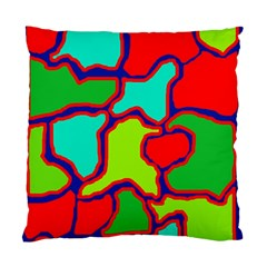 Colorful Abstract Design Standard Cushion Case (two Sides) by Valentinaart