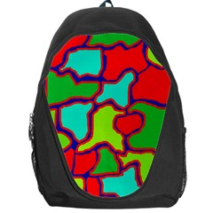 Colorful Abstract Design Backpack Bag by Valentinaart