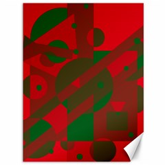 Red And Green Abstract Design Canvas 36  X 48   by Valentinaart