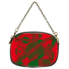 Red And Green Abstract Design Chain Purses (two Sides)  by Valentinaart