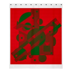 Red And Green Abstract Design Shower Curtain 60  X 72  (medium)  by Valentinaart
