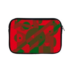 Red And Green Abstract Design Apple Ipad Mini Zipper Cases by Valentinaart