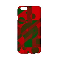 Red And Green Abstract Design Apple Iphone 6/6s Hardshell Case by Valentinaart