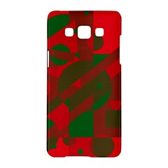 Red And Green Abstract Design Samsung Galaxy A5 Hardshell Case