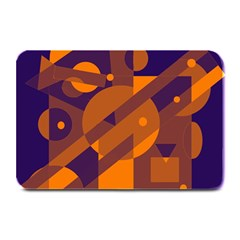 Blue And Orange Abstract Design Plate Mats by Valentinaart