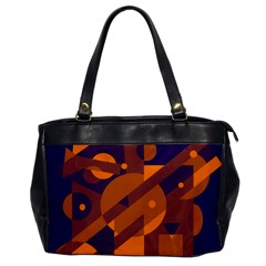 Blue And Orange Abstract Design Office Handbags by Valentinaart