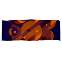 Blue And Orange Abstract Design Body Pillow Case Dakimakura (two Sides) by Valentinaart