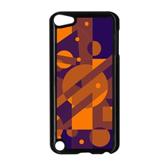 Blue And Orange Abstract Design Apple Ipod Touch 5 Case (black) by Valentinaart