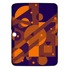 Blue And Orange Abstract Design Samsung Galaxy Tab 3 (10 1 ) P5200 Hardshell Case  by Valentinaart